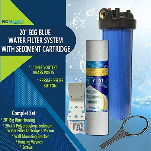 20 Quot Big Blue Water Filter Purifier System With 5 Micron 4 5 X 20 Sediment Cartridge Whole House Water Filter Water Treatment System Water Filter Cartridge