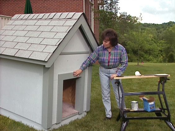 how to build a dog house roof