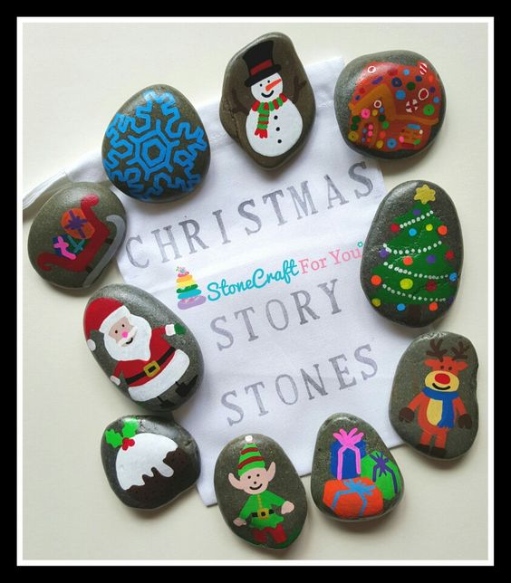 Christmas Story Stones  You can find me on facebook https://m.facebook.com/stonecraftforyouuk: