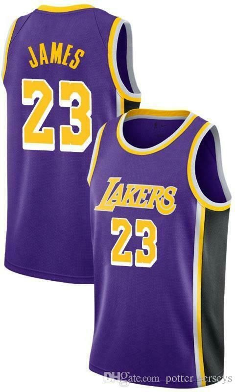New NBA Men's Los Angeles Lakers Jersey Lebron James 23