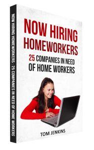 eBook 25 companies hiring homeworkers