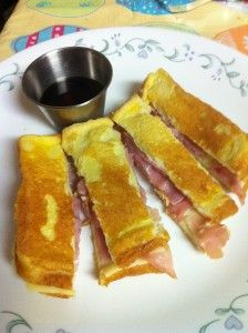 Monte Cristo Sandwich - my favorite was from The Velvet Goose in Kent (now closed :-( ) and I had no mayo or mustard and dipped it in Raspberry jam. Yum!