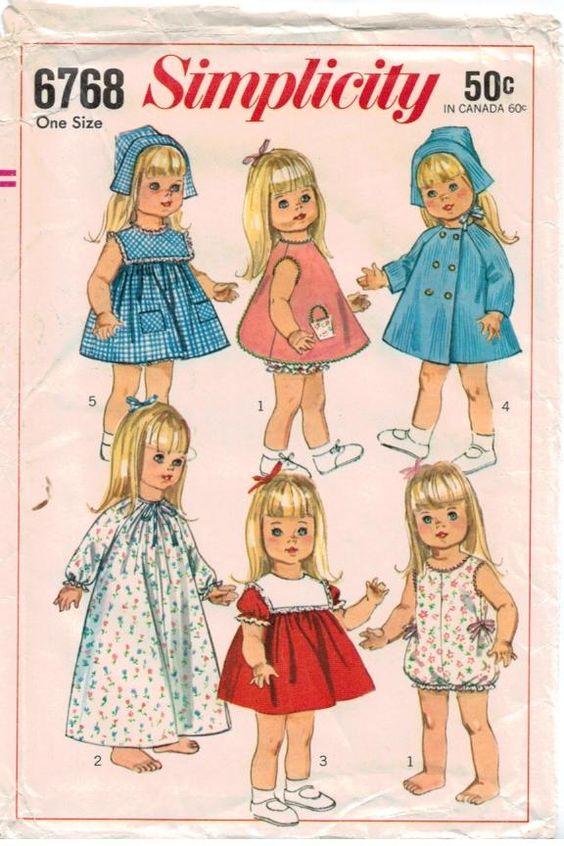 Vintage Baby Dolls Vintage Simplicity Pattern 6768 18