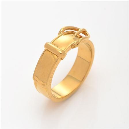 Anillo cinturón de Vintage Hermès, dorado