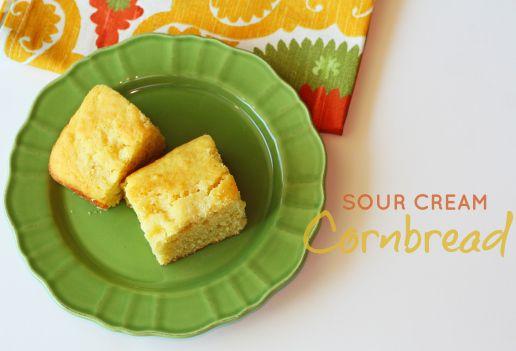 Sour Cream Cornbread | Recipe | Corn Bread, Cornbread and Sour Cream