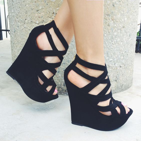 Faux Suede Platform Wedges on Chiq  $0.00 http://www.chiq.com/34-50/faux-suede-platform-wedges