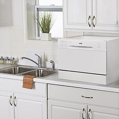 New Countertop Dishwasher White Portable Compact Energy Star