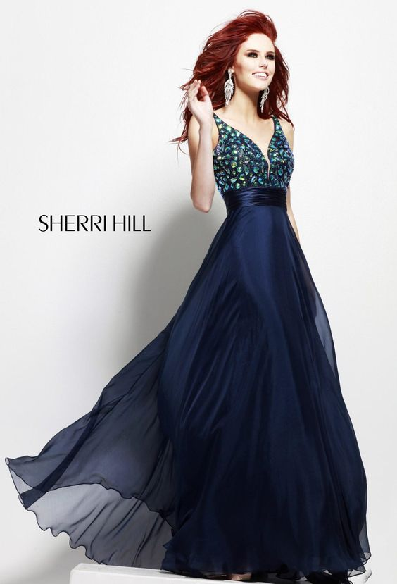 Open-Back Long Dress by Sherri Hill_ I love long- flowy dresses ...