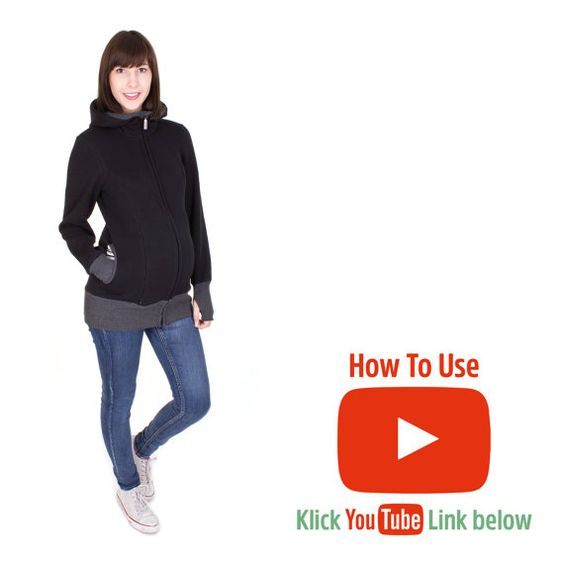 Viva la Mama | Baby Carrying Jacket CHARLIE (3in1- gray mottled/striped). Hoody for pregnancy, maternity, baby wearing and everyday use. No worries about the blanket not covering toes or fingers! :) #vivalamama #maternityfashing #babycarrying #babywearing #nursingwear https://www.youtube.com/watch?v=LzR_4X4Mej0