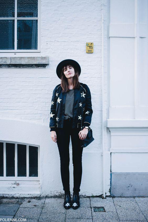 POLIENNE | wearing a ZOE KARSSEN star bomber jacket, CHEAP MONDAY denim, H&M hat, COACH bag & MOROBE cowboy boots: