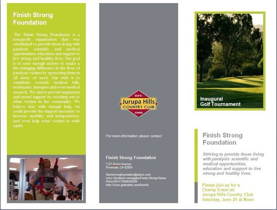Brochure Golf Tournament Ideas Pinterest Golf tournament ideas - golf tournament brochure