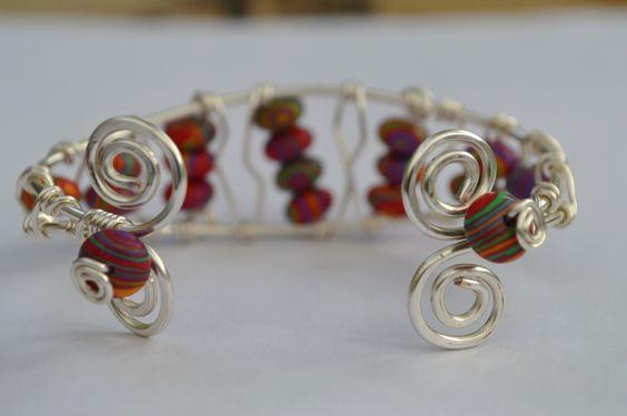 Bangle with Calsilica beads