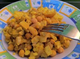 Curry végétarien de tofu et pois chiches