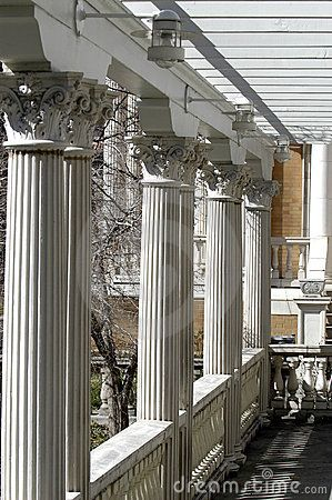 Porch with Corinthian columns