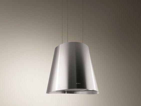 Cappa ad isola con illuminazione integrata JUNO by Elica design Elica Design Center