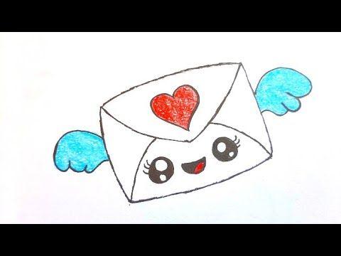 كيفية رسم رسالة جميلة للاطفال رسم سهل رسم رسالة حب سهلة رسومات بالرصاص تعلم الرسم Youtube Coloring Pages Color