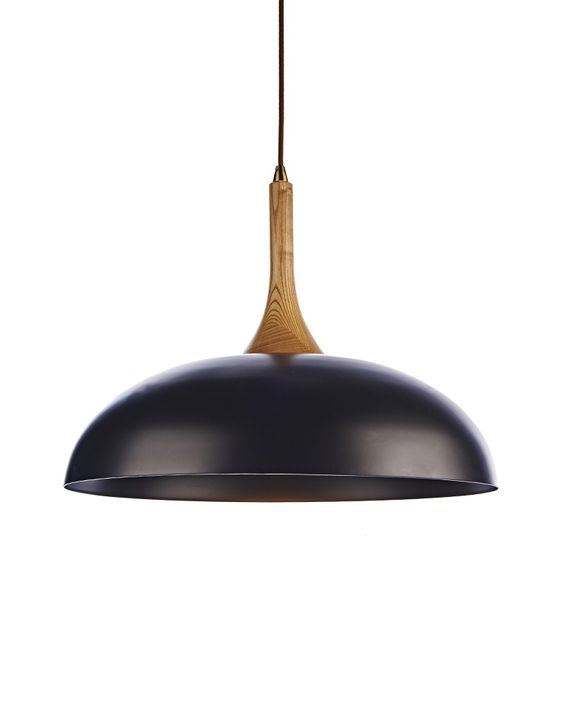 Rustic Style Innovative Pendant Light with Dome Shape Black Shade