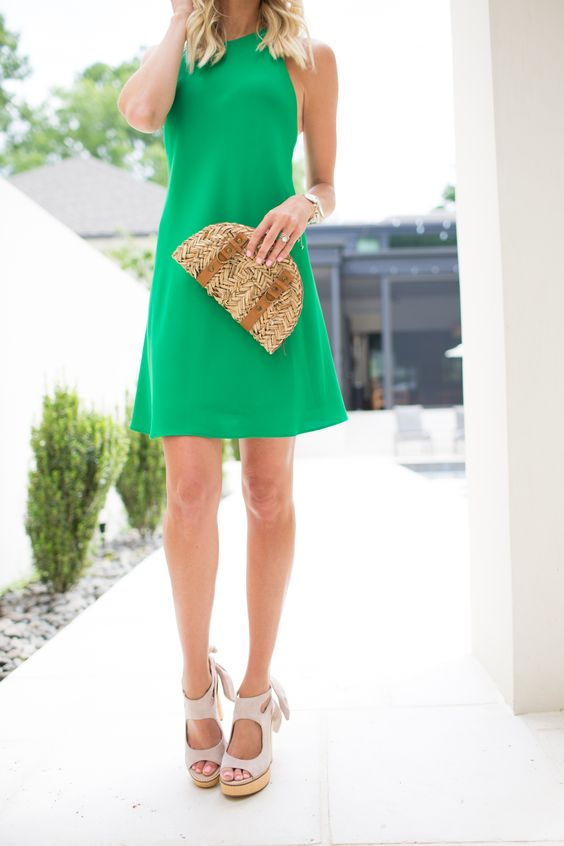 Kelly Green Sundress - Mckenna Bleu: