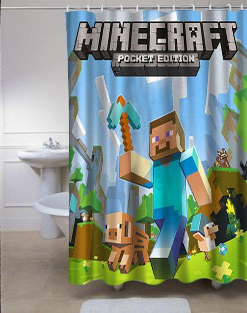 Minecraft Mine Craft Personalized Custom Shower Curtain Custom
