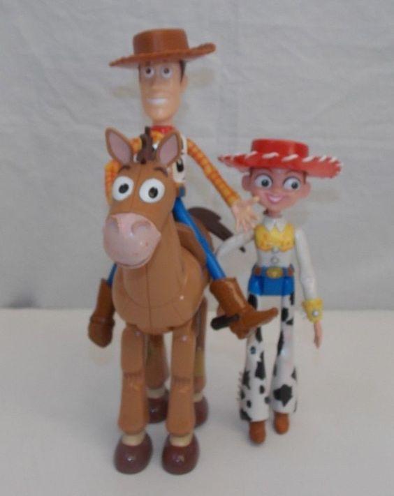 "Toy Story Woody Jessie Bullseye Figures 7"" Plastic #Disney"