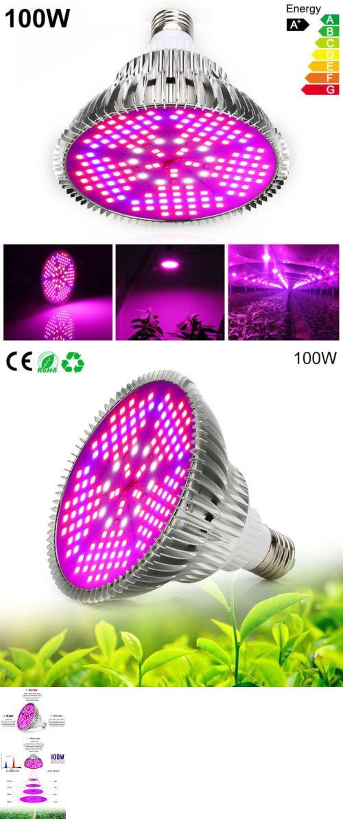 Grow Light Bulbs 178988 100w E27 Led Grow Light Bulb Full Spectrum Plants Veg Flower Greenhouse Lamp Usa Led Grow Light Bulbs Led Grow Lights Grow Light Bulbs