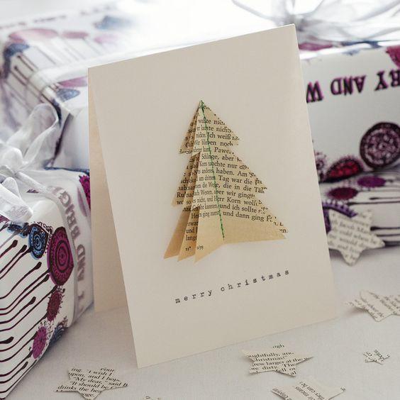 bookish Tree Christmas Card - Bookish