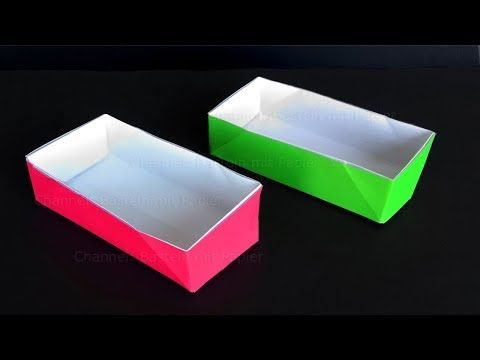 Origami Schachtel: Rechteckig - Basteln mit Kindern: Origami Box ... | 360x480