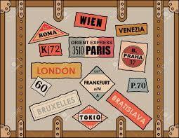 Resultado de imagem para european travel stickers