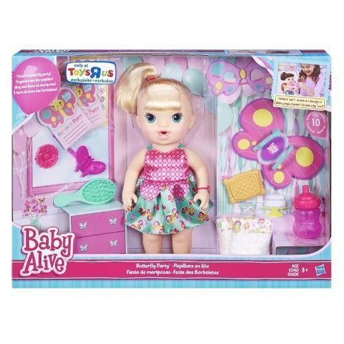 Baby Alive Butterfly Party Blonde Doll Toyrus Exclusive New Baby Alive Dolls Baby Alive Baby Doll Play