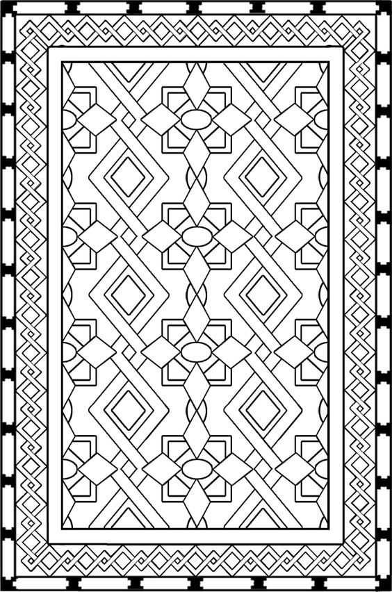 iranian carpet coloring page download projects to try pinterest persian  carpets and iranian Wildlife Coloring Pages Printable  Coloring Floor Pad Wildlife And Patterns