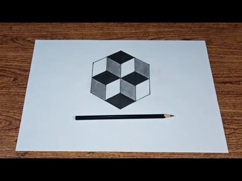 Easy Way To Draw Optical Illusion Cube 3d For Beginners 3d Drawings Youtube Optical Illusions 3d Drawings Easy Optical Illusions Drawing Optical Illusions