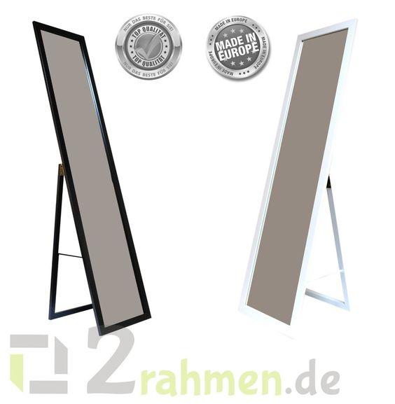 moderner Standspiegel, silber, schwarz und weiß für deine Garderobe, bei Ebay erhältlich ;)