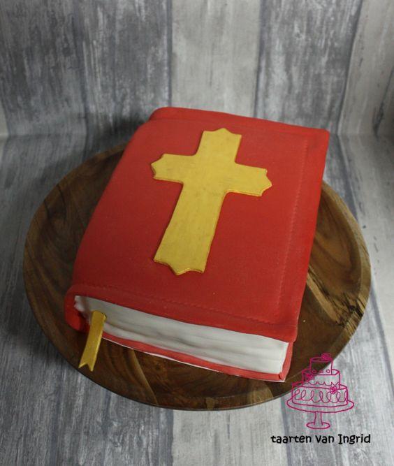 sinterklaas taart bakken in de vorm van boek