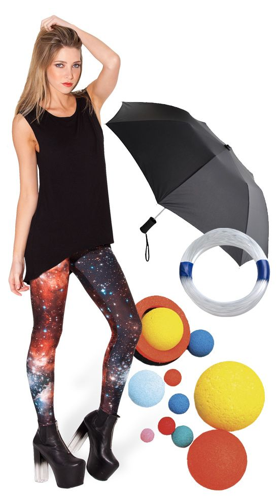 """What you need for a solar system space costume. """"Why, yes ..."""