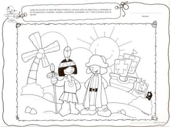 dibujos Descubrimiento de America para colorear (2) (con imágenes ...