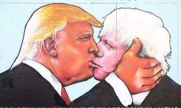 Donald Trump & Boris Johnson Kissing Graffiti Appears In Bristol…