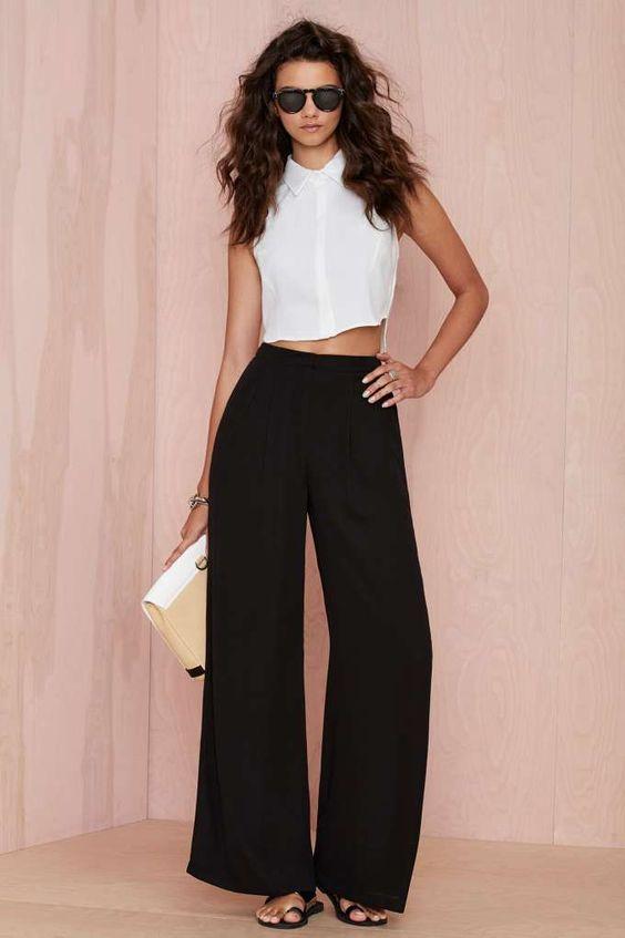 Layla Crepe Palazzo Pants | Shop Pants at Nasty Gal  #MACxNastyGal