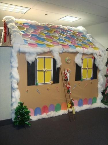 Cubicles Holiday And Gingerbread Houses On Pinterest