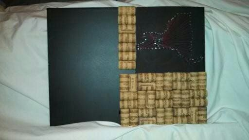 Present I made... Chalkboard and corkboard with <3 New york design and chalk holder