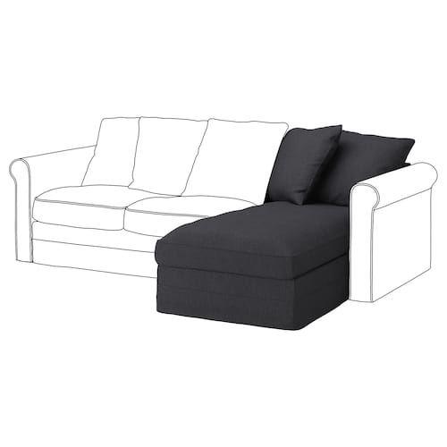 Gronlid Sleeper Sofa With Chaise Sporda Dark Gray Modulares