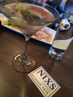 The Dirty Rotten Scoundrel Cocktail. Strong and flavorful with a blue cheese stuffed olive. | Yelp