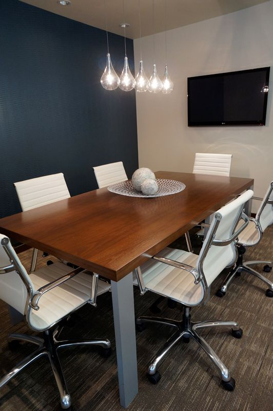 Modern boardroom design by Hatch Interior Design Kelowna BC