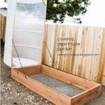 **DIY** Hinged Covered Greenhouse Garden