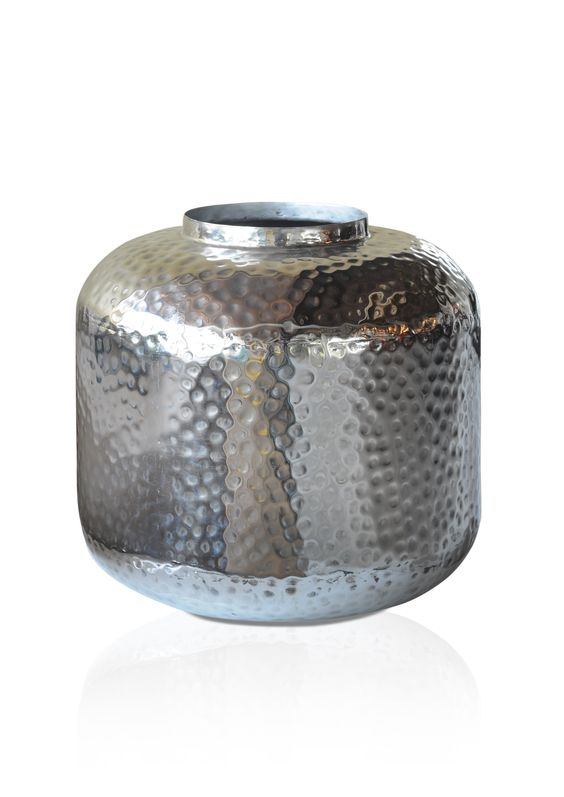 SELA VASE - Made of iron; Silver finish; Dimensions: D31 x H30 cm; PRICE: RS 2690/-;  Buy Now : http://tfrhome.com/landing/productlandingpage.php?product_code=ma-35