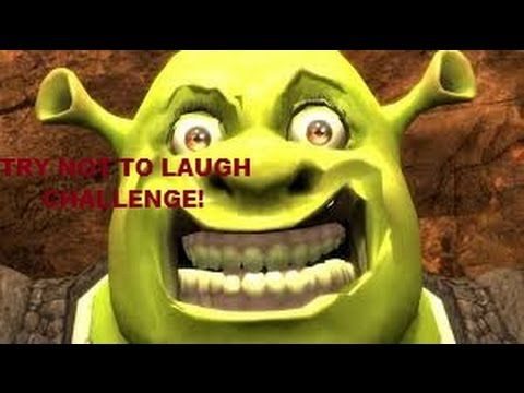 Try Not To Laugh Challenge Super Impossible Youtube Shrek Funny Shrek Super Funny Videos