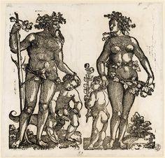 """""""Wilder Mann und Wilde Frau"""", ca. 1530, Hans Leonhard  Schäufelein (1480/1485-1538/1540)"""