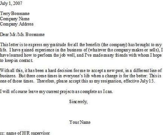 Tips For Writing A Resignation Letter Resignation Letter