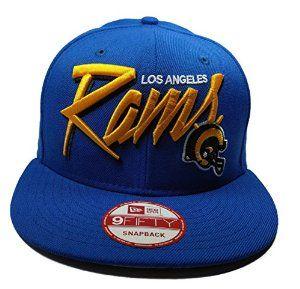 New Era Los Angeles Rams 9Fifty Blue Vintage Sketch Script Adjustable Snapback Hat NFL