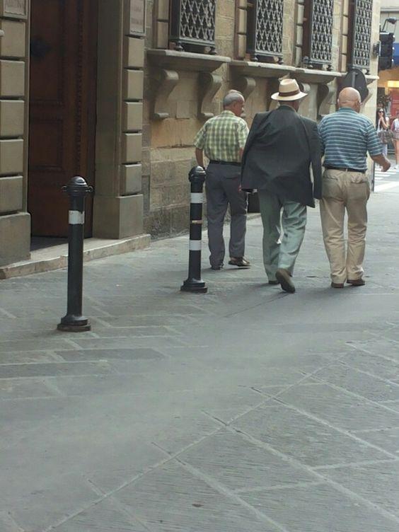Italiaanse mannen in Arezzo