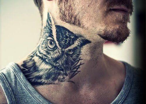 30 Owl Neck Tattoo Designs For Men Bird Ink Ideas Owl Neck Tattoo Best Neck Tattoos Neck Tattoo For Guys